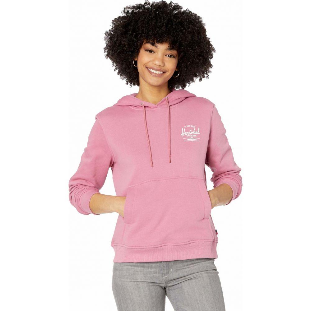 ハーシェル サプライ Herschel Supply Co. レディース パーカー トップス【Pullover Hoodie】Classic Logo Heather Rose/White