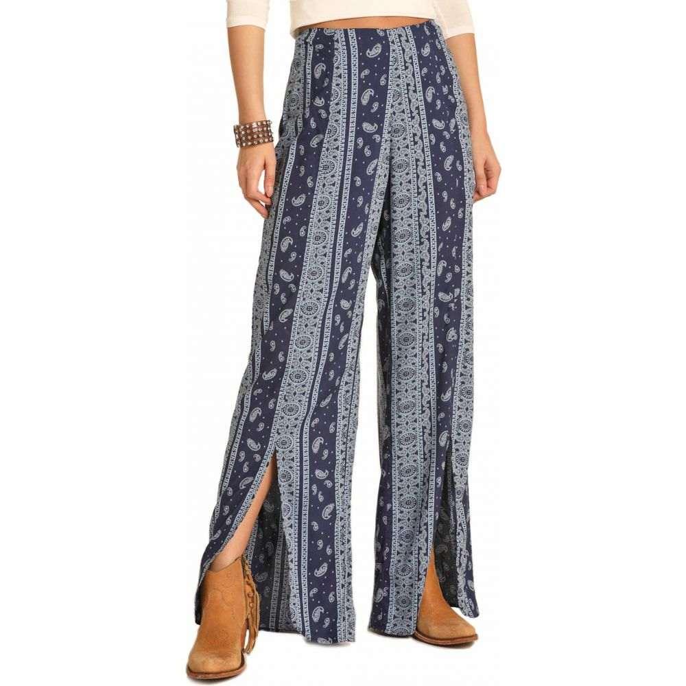 ロックアンドロールカウガール Rock and Roll Cowgirl レディース ボトムス・パンツ ワイドパンツ【Wide Leg Pants 72-4519】Navy