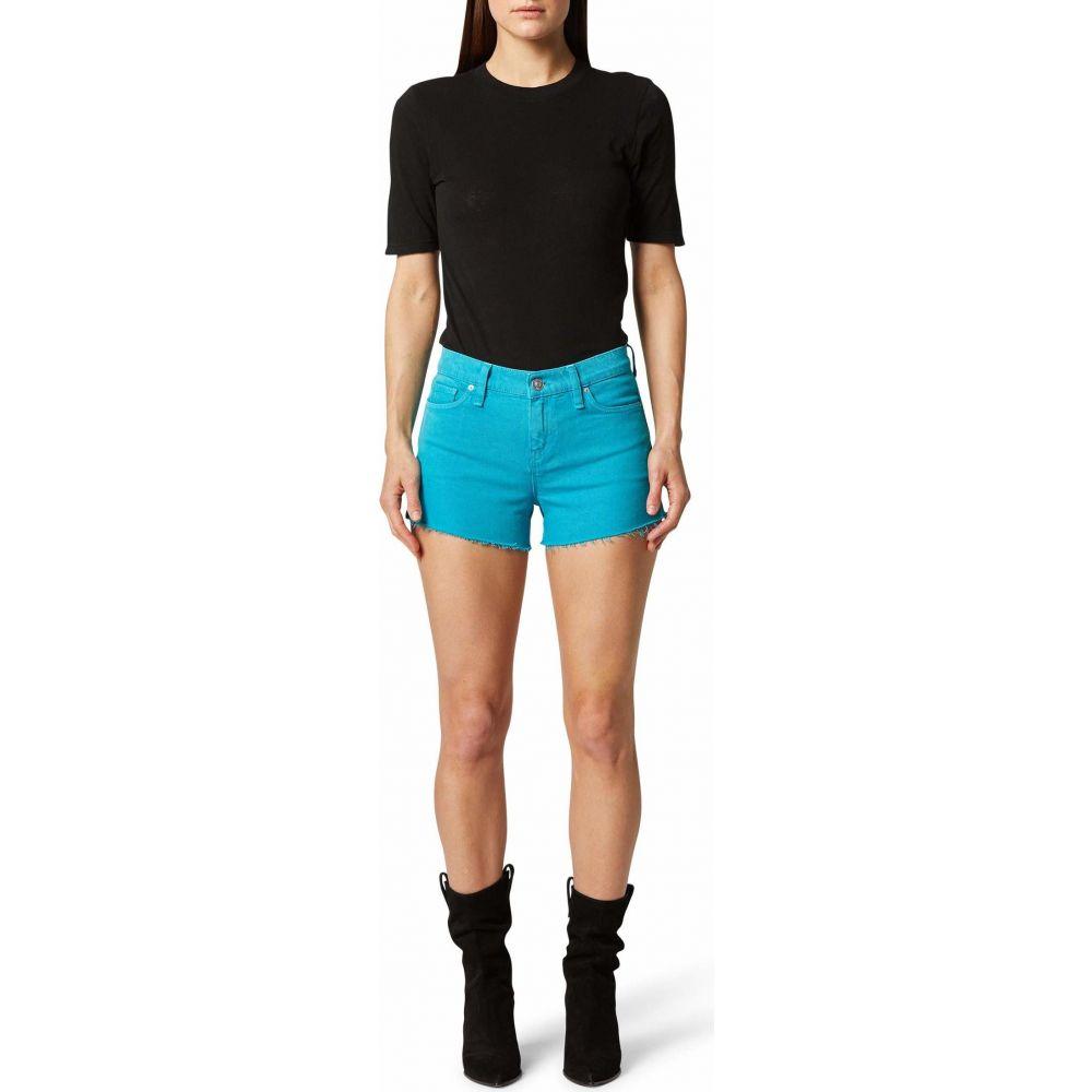 ハドソンジーンズ Hudson Jeans レディース ショートパンツ ボトムス・パンツ【Gemma Mid-Rise Cutoffs Shorts in Blue Daisy】Blue Daisy