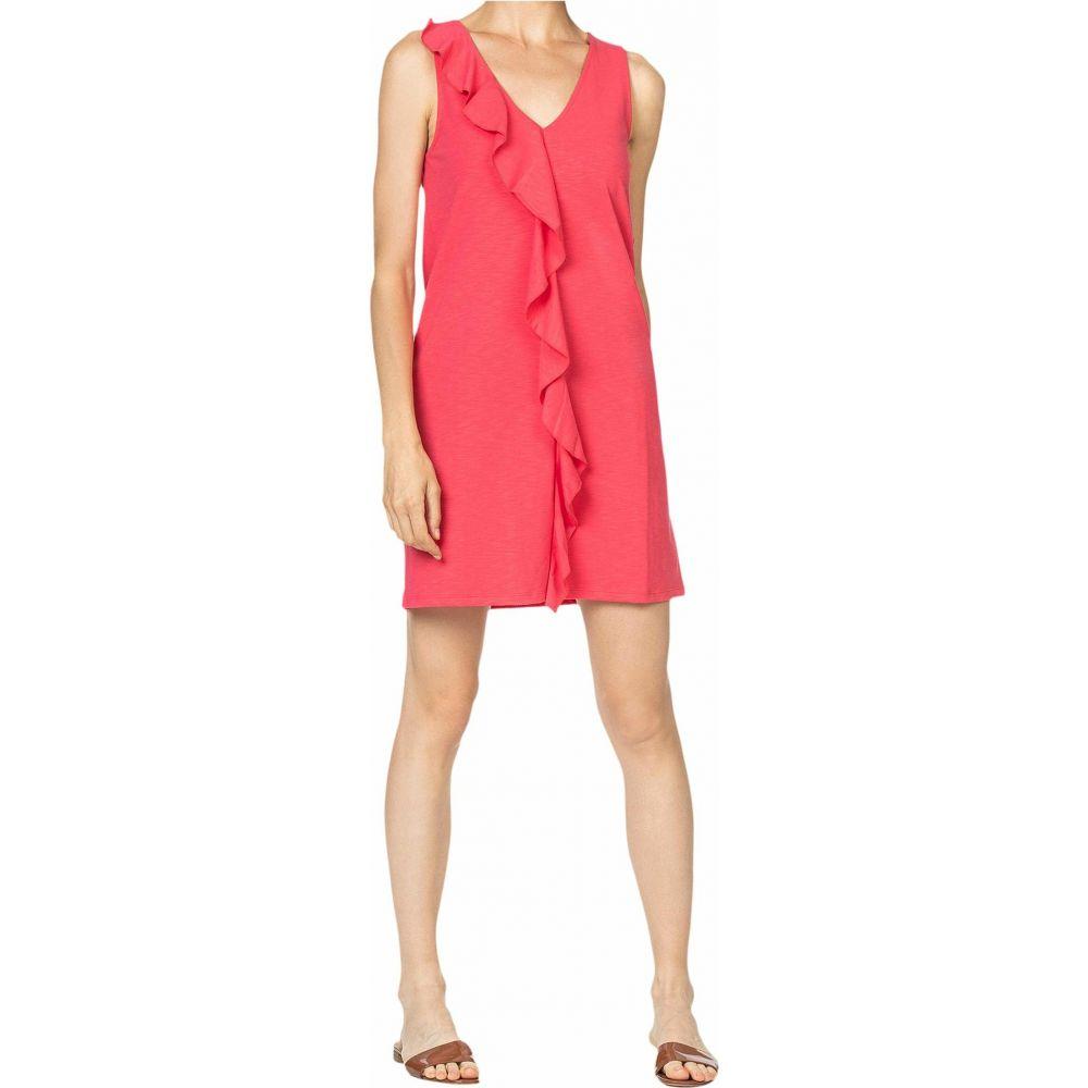 リラピー Lilla P レディース ワンピース シフトドレス ワンピース・ドレス【Ruffle Front Shift Dress in Flame Modal Stretch】Fiesta