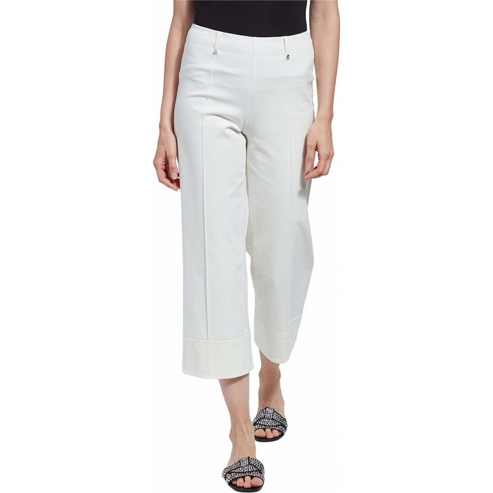 リセ Lysse レディース クロップド ワイドパンツ ボトムス・パンツ【Giorgia Wide Leg Crop Pull-On Pants with Belt Loops in Stretch Twill】Off-White