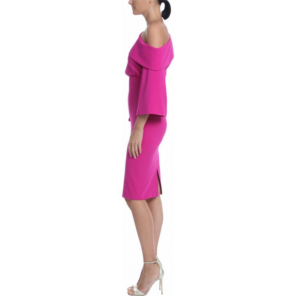 バッジェリー ミシュカ Badgley Mischka レディース パーティードレス カクテルドレス ワンピース・ドレス【Asymmetrical Off-the-Shoulder Cocktail Dress】Midnight