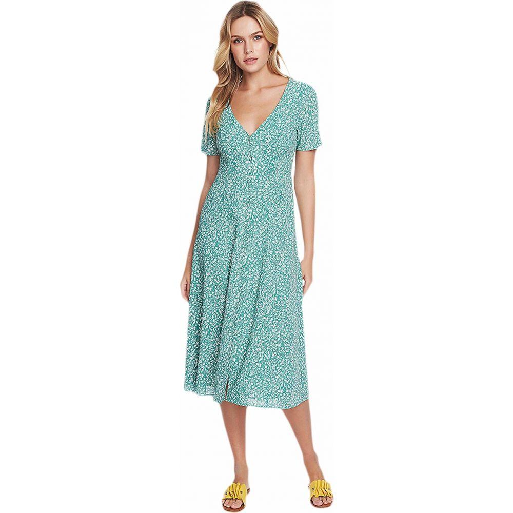 ワンステート 1.STATE レディース ワンピース ワンピース・ドレス【Short Sleeve Folk Silhouette Floral Button Front Dress】Fresh Grass