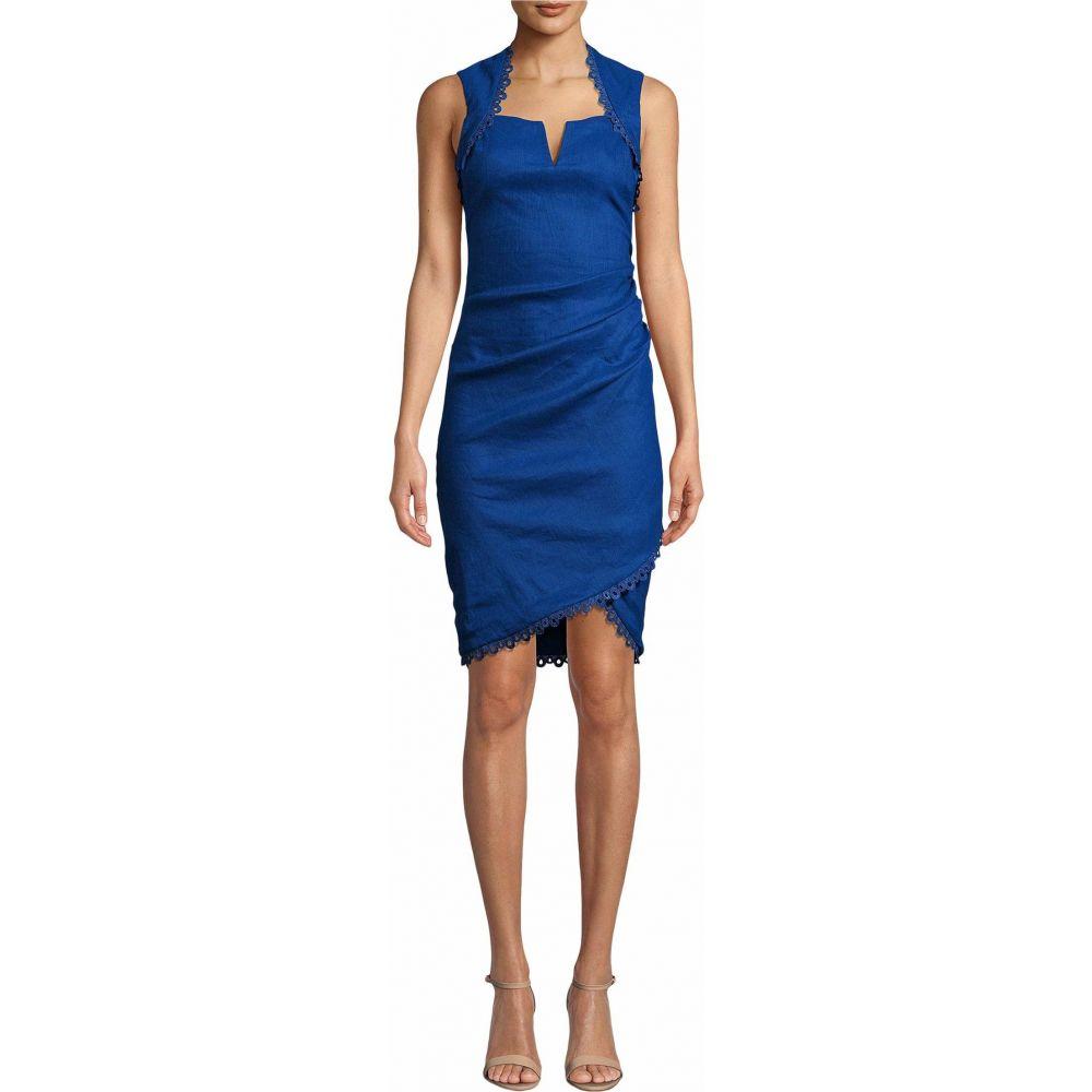 ニコルミラー Nicole Miller レディース ワンピース ワンピース・ドレス【Stretch Linen Sweetheart Dress】Insignia