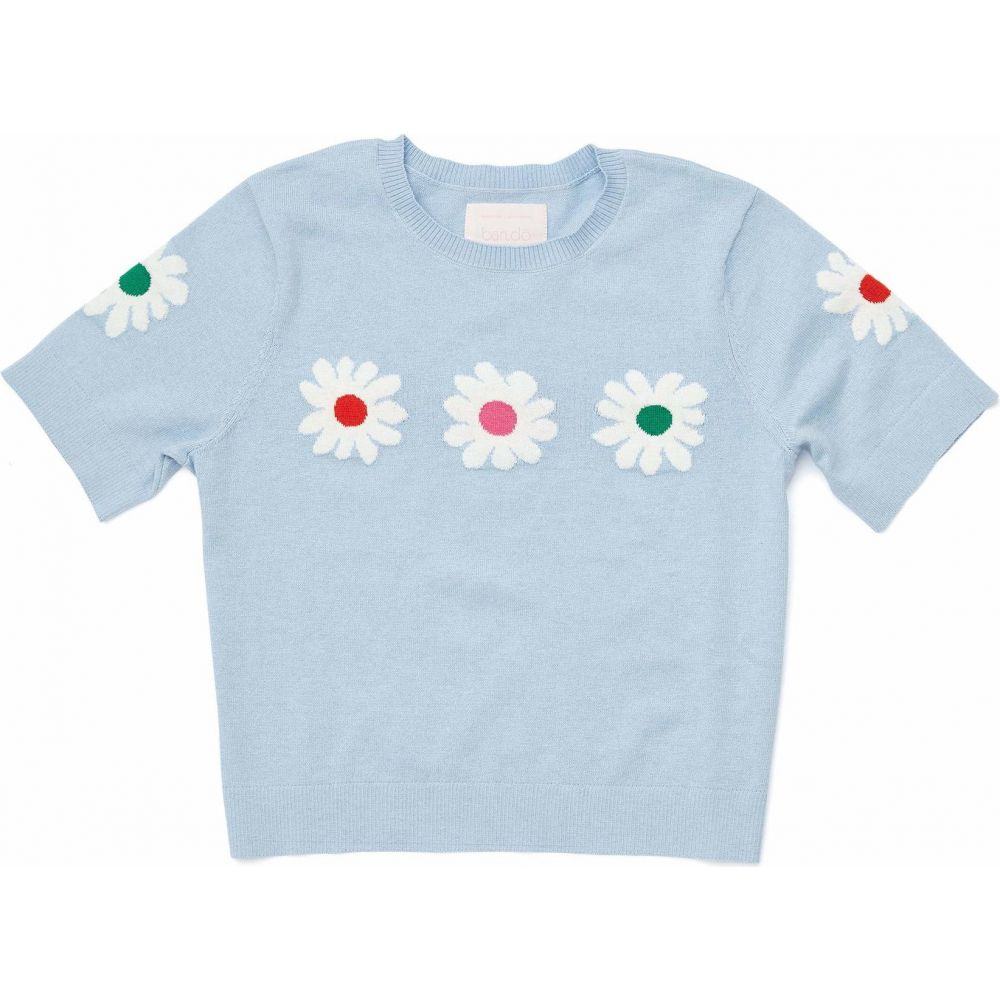 バン ドー ban.do レディース ニット・セーター トップス【Daisy Cropped Short Sleeve Sweater】Blue