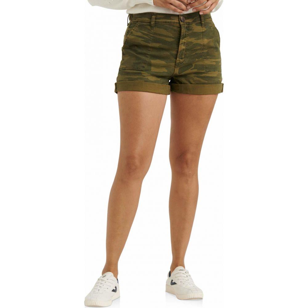 ラッキーブランド Lucky Brand レディース ショートパンツ カーゴ ボトムス・パンツ【Mid-Rise Cargo Shorts】Classic Camo
