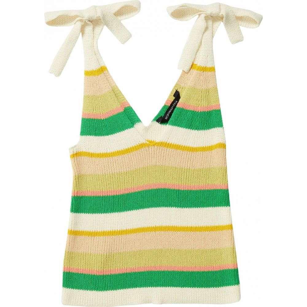 ビーシービージーマックスアズリア BCBGMAXAZRIA レディース ニット・セーター トップス【Striped Sweater Top】Gardenia Combo