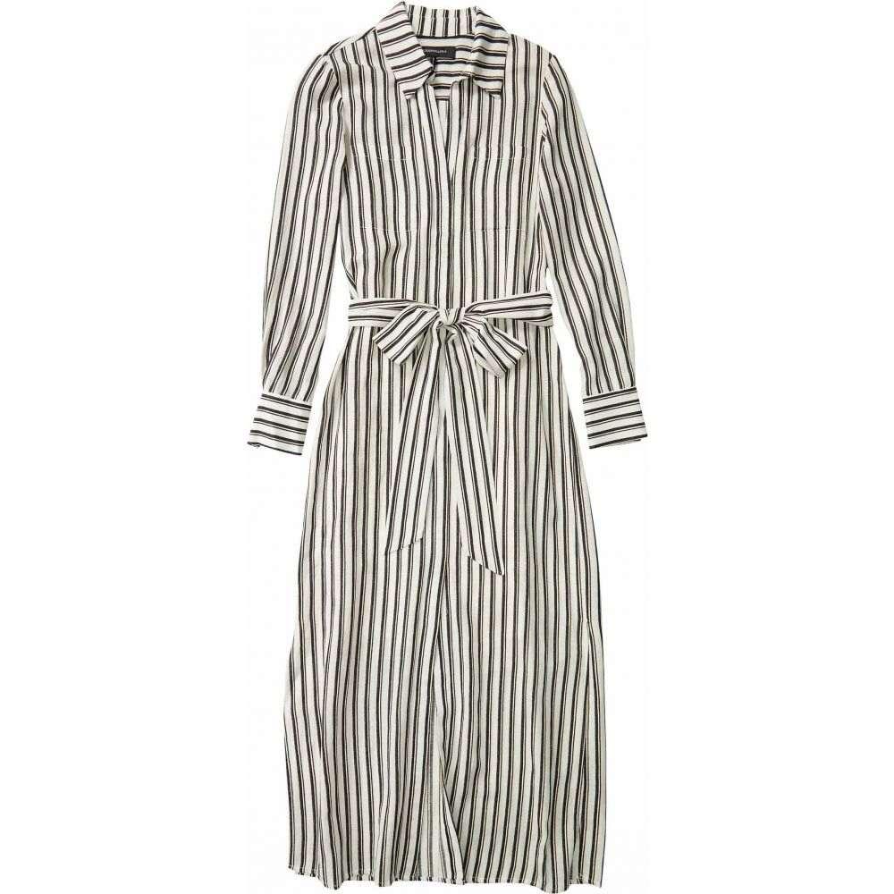 ビーシービージーマックスアズリア BCBGMAXAZRIA レディース ワンピース ワンピース・ドレス【Stripe Tie Waist Dress】Black Combo