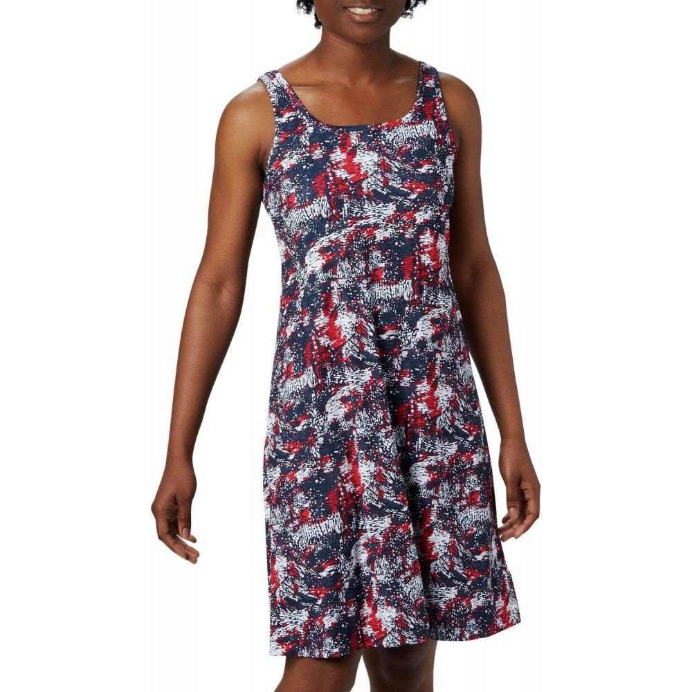 コロンビア Columbia レディース ワンピース ワンピース・ドレス【Freezer(TM) III Dress】Collegiate Navy Waterbrush