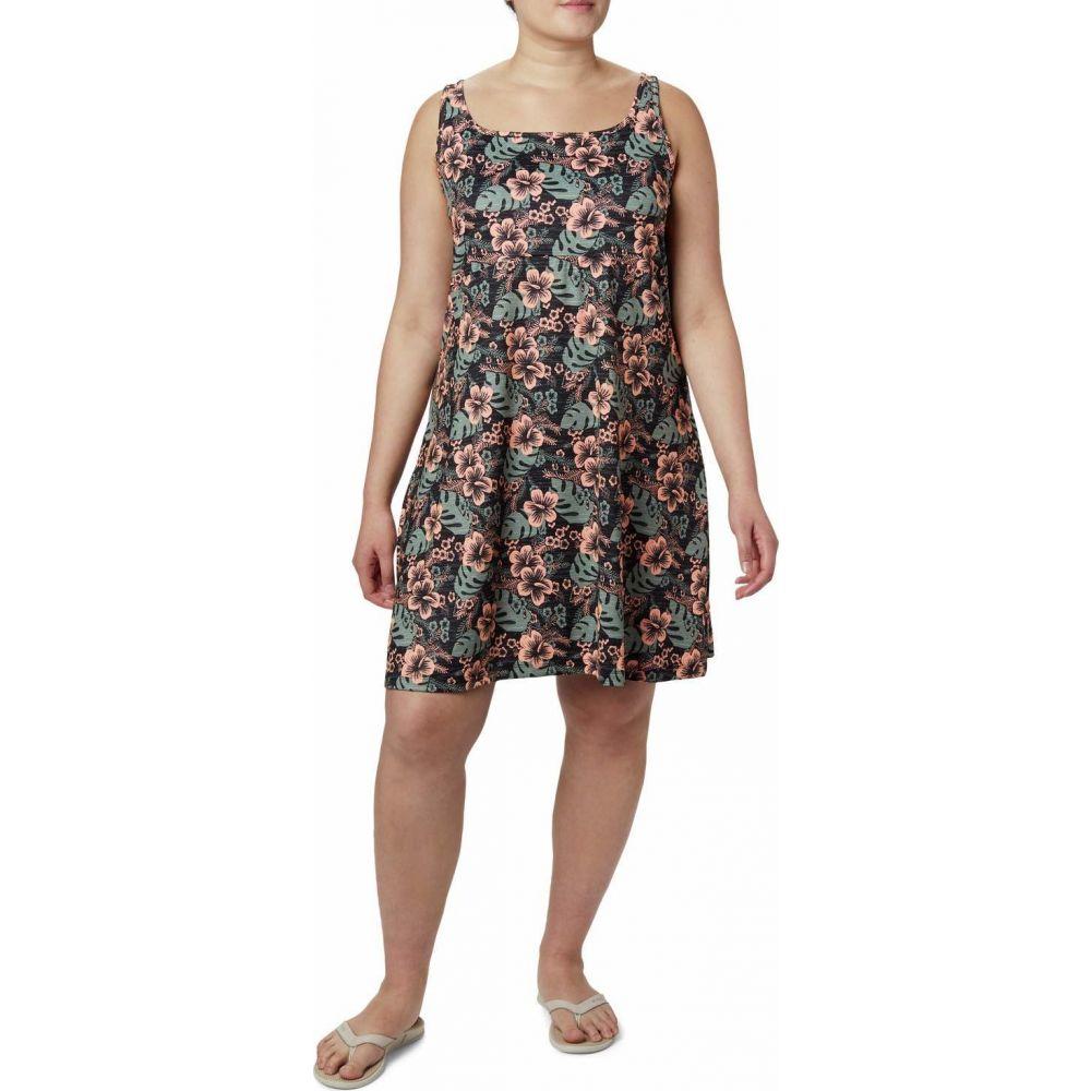 コロンビア Columbia レディース ワンピース 大きいサイズ ワンピース・ドレス【Plus Size Freezer III Dress】Black Vacation Vibes