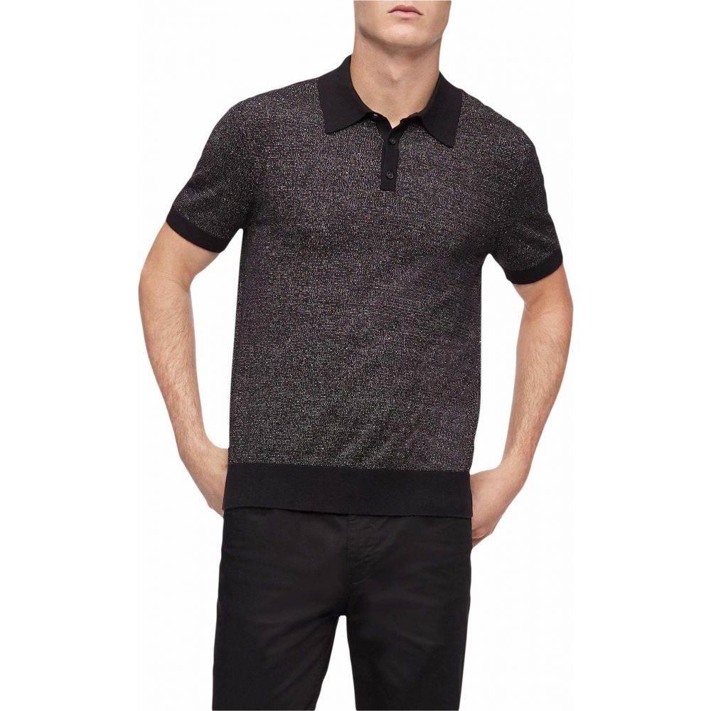 カルバンクライン Calvin Klein メンズ ポロシャツ 半袖 トップス【Short Sleeve Soft Cotton Sweater Polo Shirt】Black