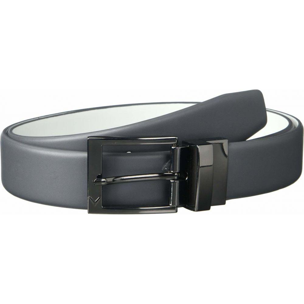 キャロウェイ Callaway メンズ ベルト 【Reversible Leather Belt】Iron Gate/White