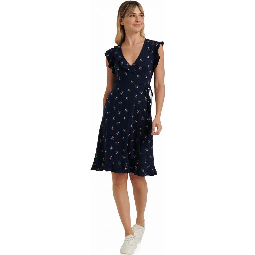 ラッキーブランド Lucky Brand レディース ワンピース Vネック ラップドレス ワンピース・ドレス【Flutter Sleeve V-Neck Ruffle Spring Fling Wrap Dress】Blue Multi
