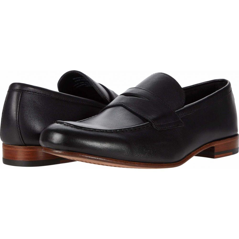 ゴードンラッシュ メンズ シューズ 靴 ローファー 期間限定特別価格 Black Gordon Wilfred Rush サイズ交換無料 Leather 送料無料
