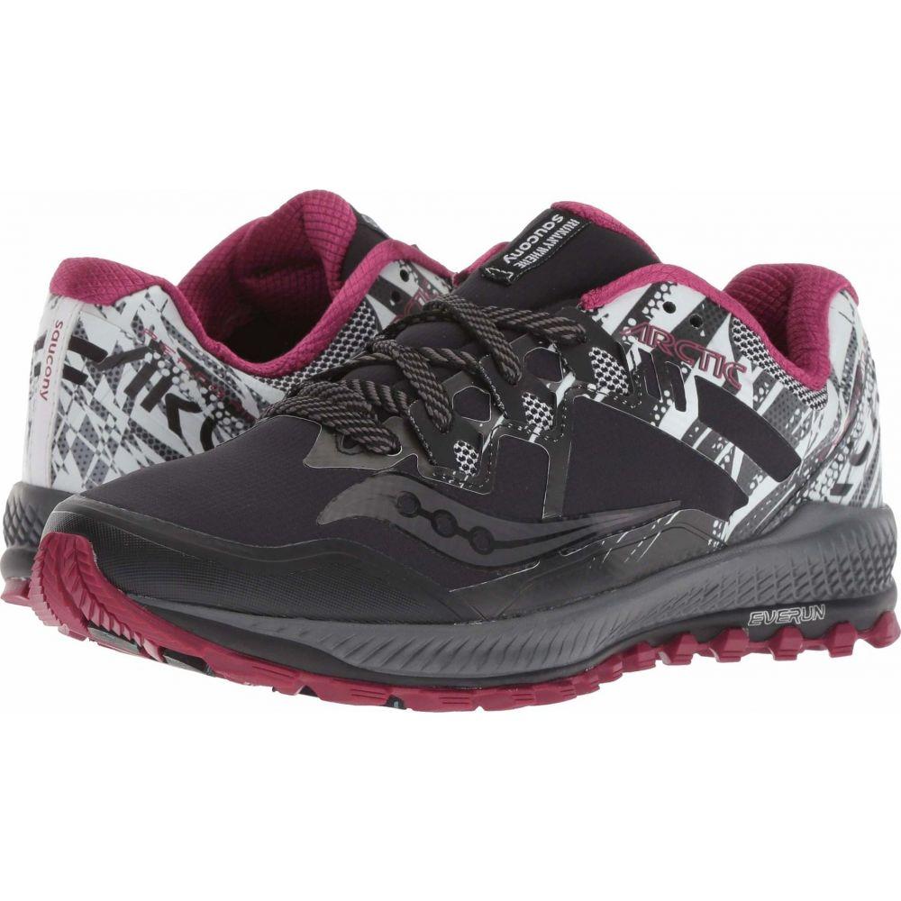 サッカニー Saucony レディース ランニング・ウォーキング シューズ・靴【Peregrine 8 ICE+】Black/White