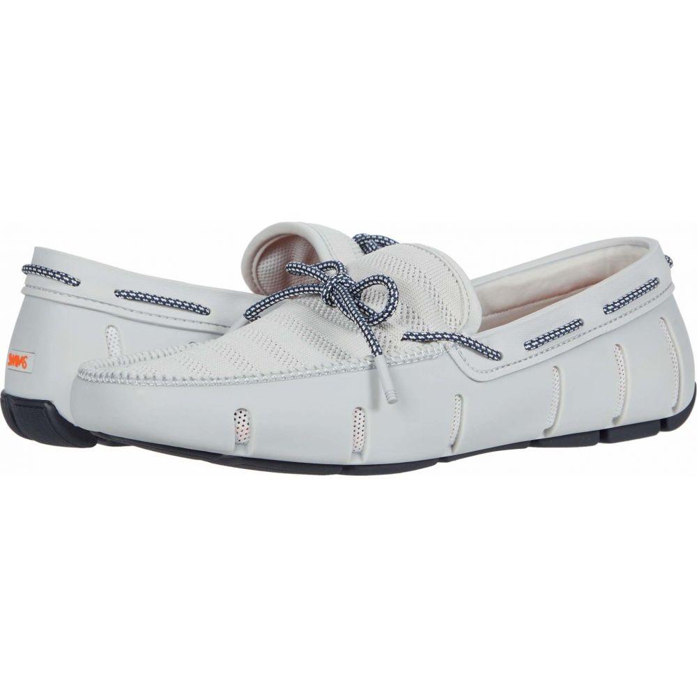 スウィムス SWIMS メンズ ローファー シューズ・靴【Knit Lace Loafer】Glacier Gray/Navy