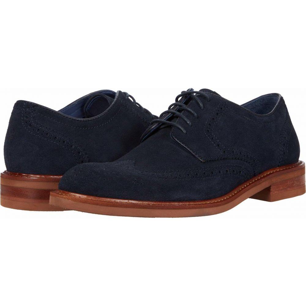 トラスク Trask メンズ 革靴・ビジネスシューズ シューズ・靴【Lanier】Navy English Suede