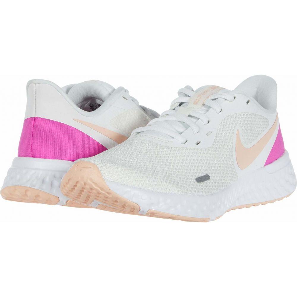 ナイキ Nike レディース ランニング・ウォーキング シューズ・靴【Revolution 5】Summit White/Washed Coral/Fire Pink