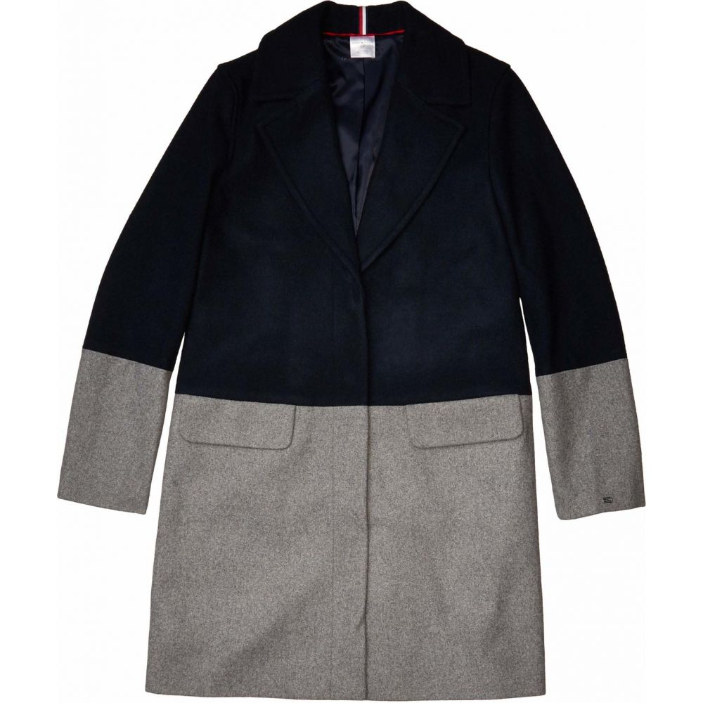 トミー ヒルフィガー Tommy Hilfiger Adaptive レディース コート アウター【Color Block Wool Coat】Masters Navy/Heather Grey As Swatch
