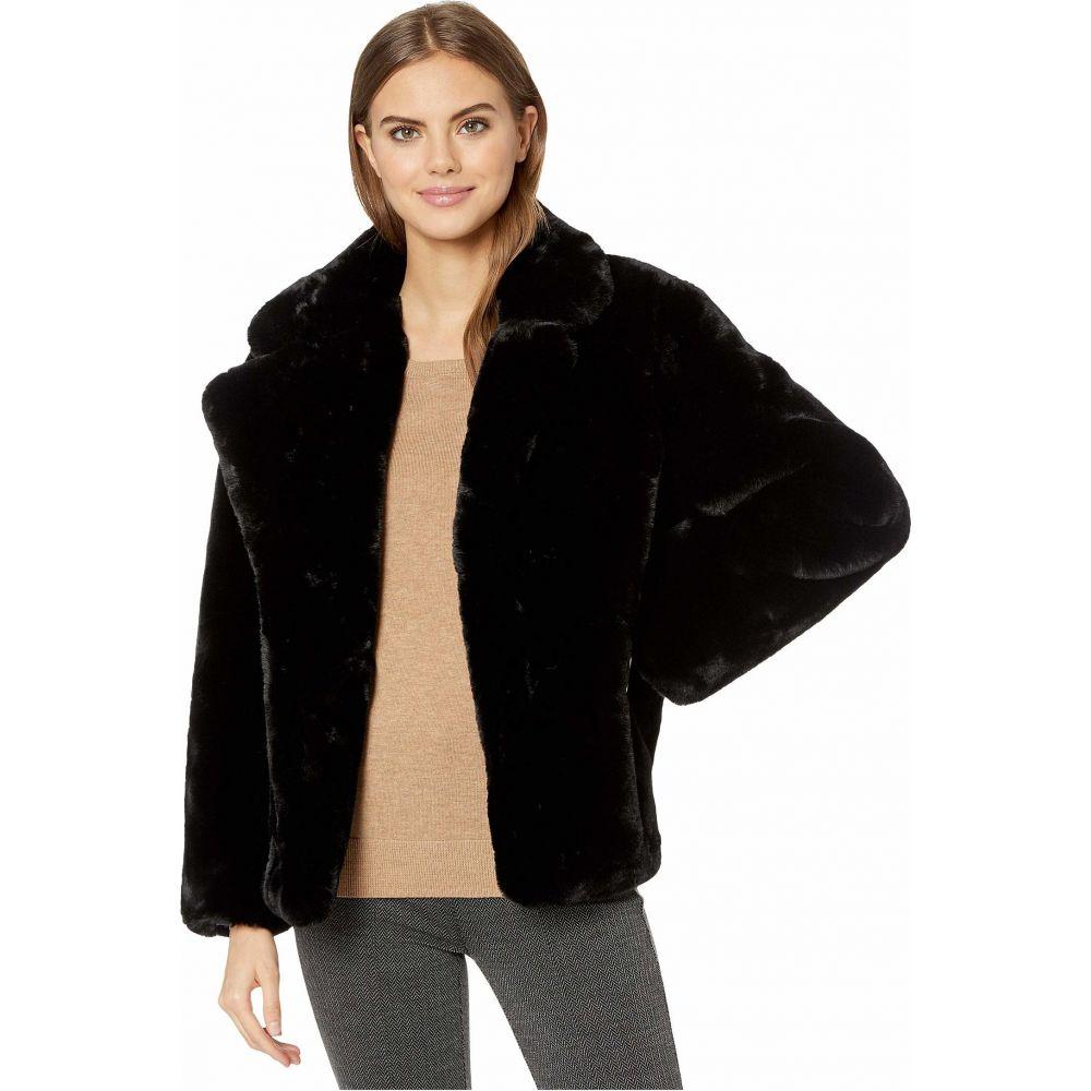 アパリス APPARIS レディース コート ファーコート アウター【Manon Faux Fur Coat】Black