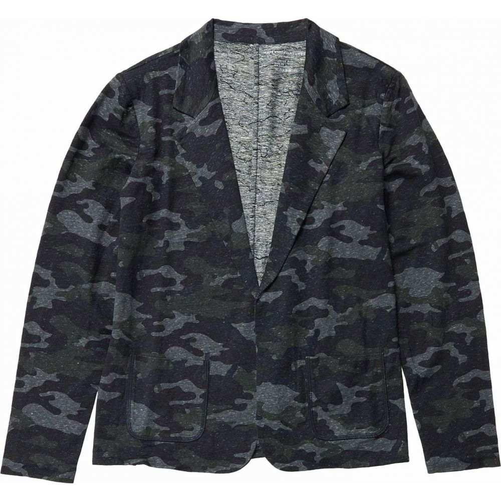 マジェスティック Majestic Filatures レディース スーツ・ジャケット アウター【Camo Linen Blend Open Blazer】Camouflage Marine