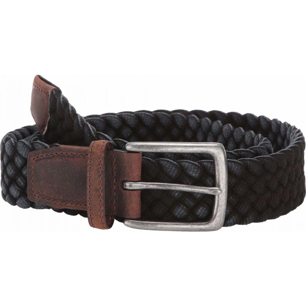 トリノレザー Torino Leather Co. メンズ ベルト 【35 mm Italian Washed Woven Cotton】Black
