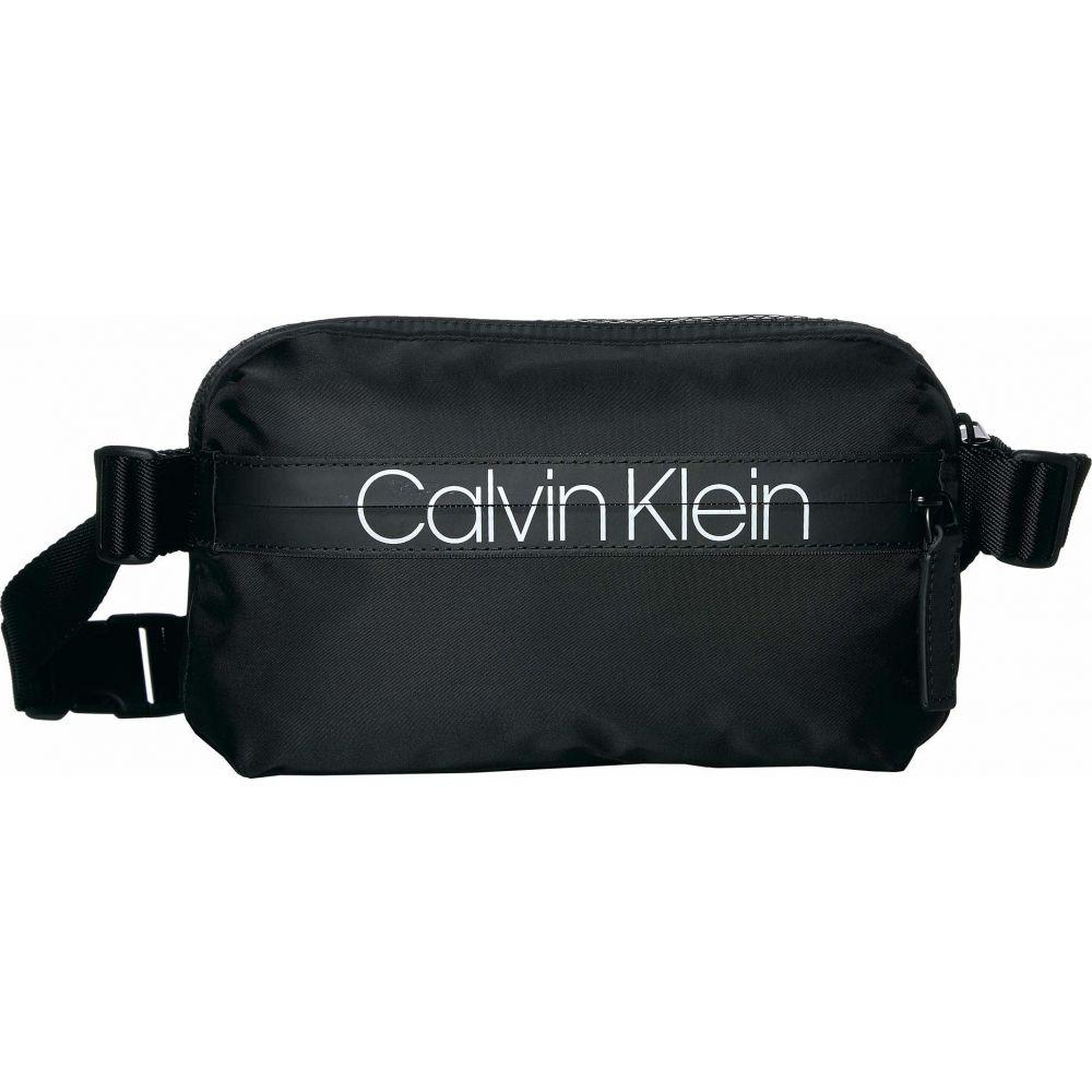 カルバンクライン Calvin Klein レディース ボディバッグ・ウエストポーチ バッグ【Nylon Belt Bag w/ Printed Logo on Zipper】Black