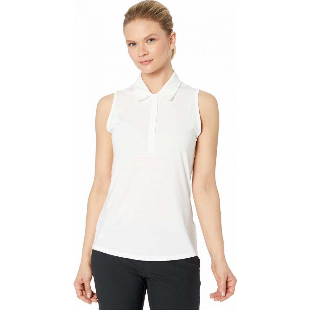 アディダス adidas Golf レディース ノースリーブ ポロシャツ トップス【Microdot Polo Sleeveless】White/White