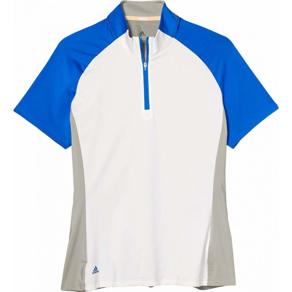 アディダス adidas Golf レディース ポロシャツ トップス【Color Block Polo Shirt】White Glory/Blue