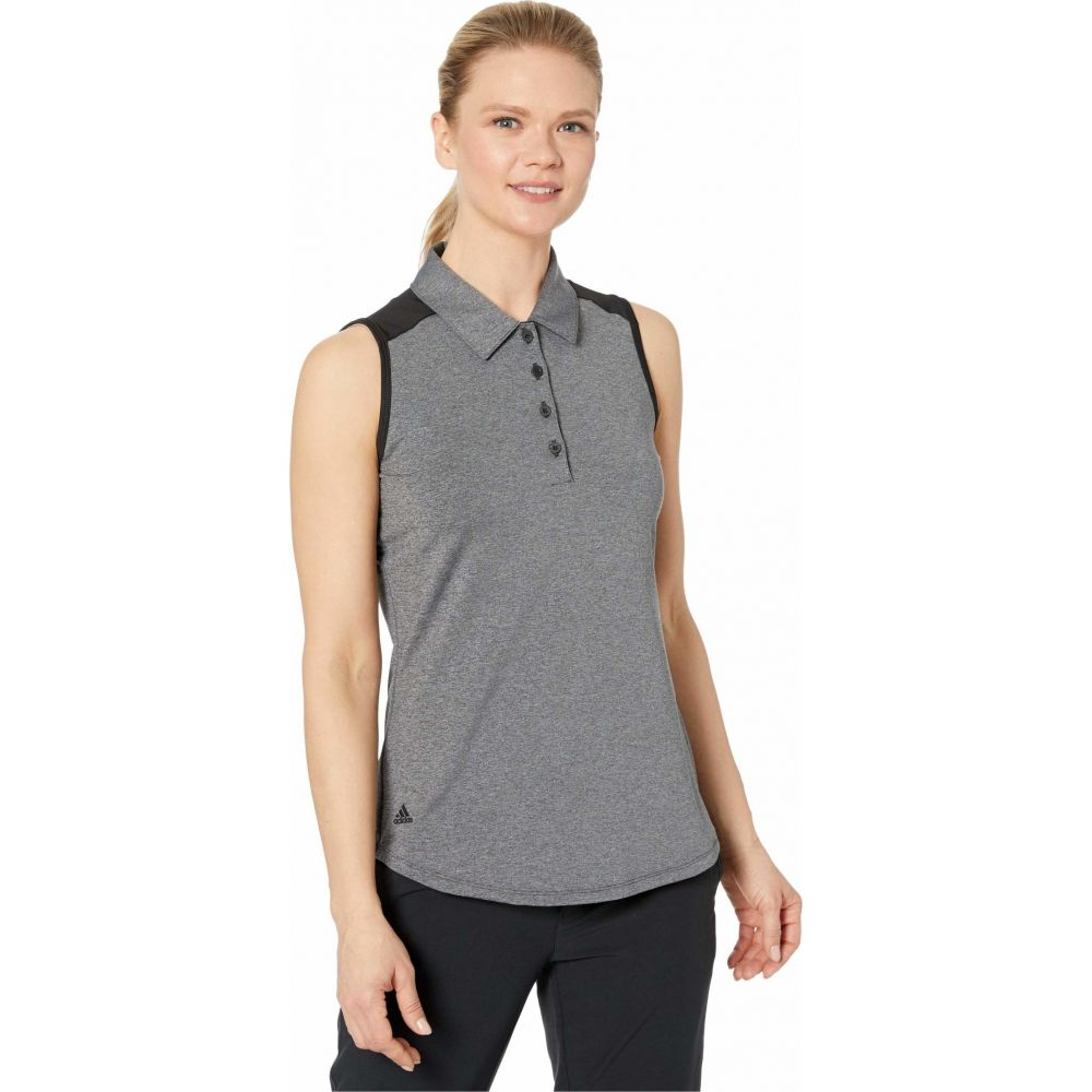アディダス adidas Golf レディース ノースリーブ ポロシャツ トップス【Ultimate365 Sleeveless Polo】Black Heather