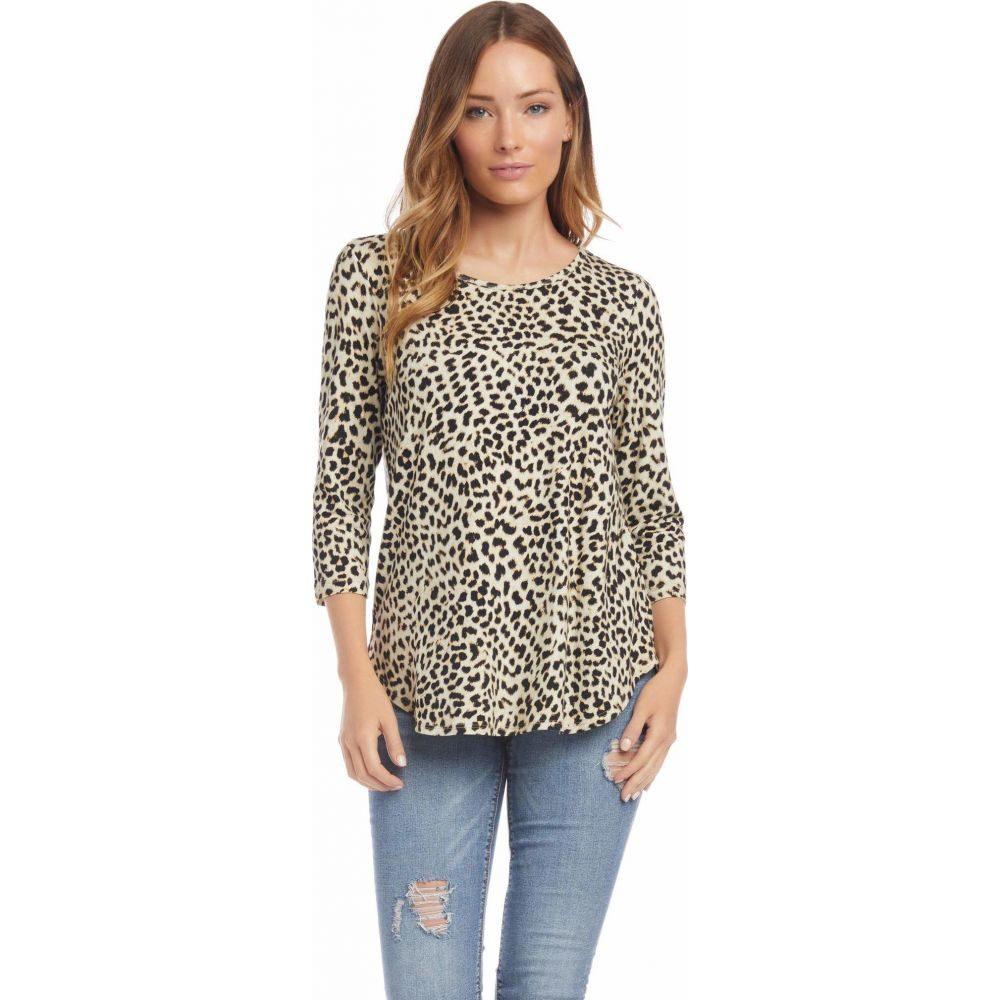 カレンケーン Karen Kane レディース ブラウス・シャツ 七分袖 トップス【3/4 Sleeve Shirttail Top】Cheetah