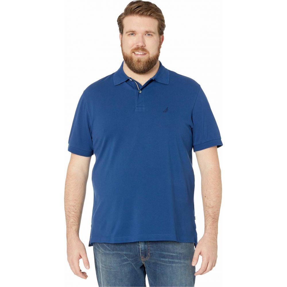 ノーティカ Nautica Big & Tall メンズ ポロシャツ 大きいサイズ トップス【Big & Tall Short Sleeve Solid Deck Shirt】Estate Blue
