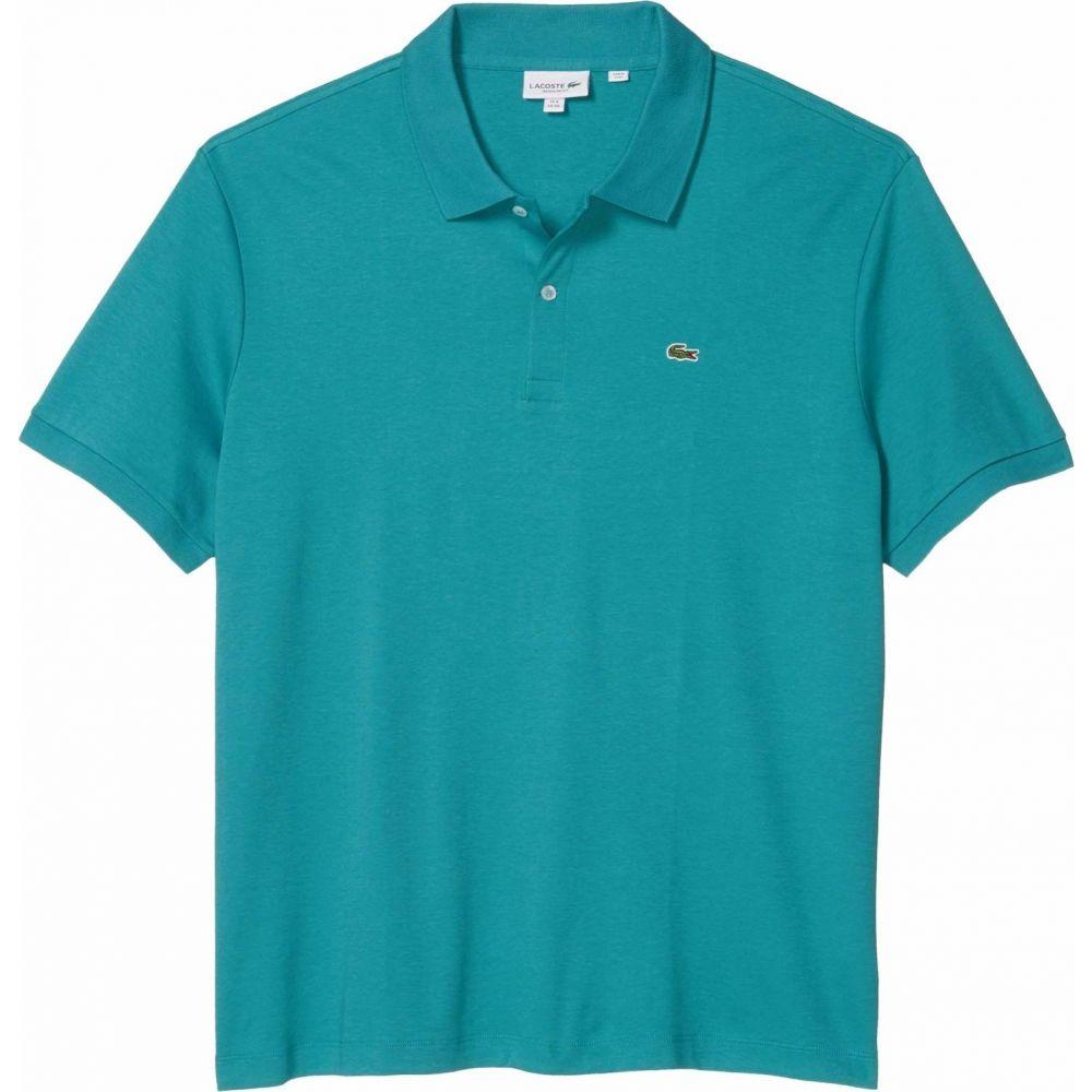 ラコステ Lacoste メンズ ポロシャツ トップス【Short Sleeve Jersey Interlock Regular】Niagara Blue
