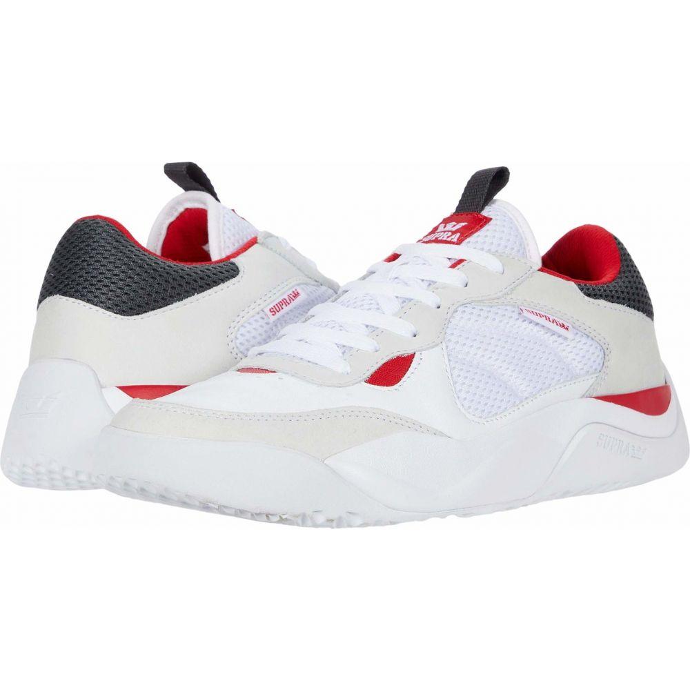 スープラ Supra メンズ シューズ・靴 【Pecos】White/Red/White