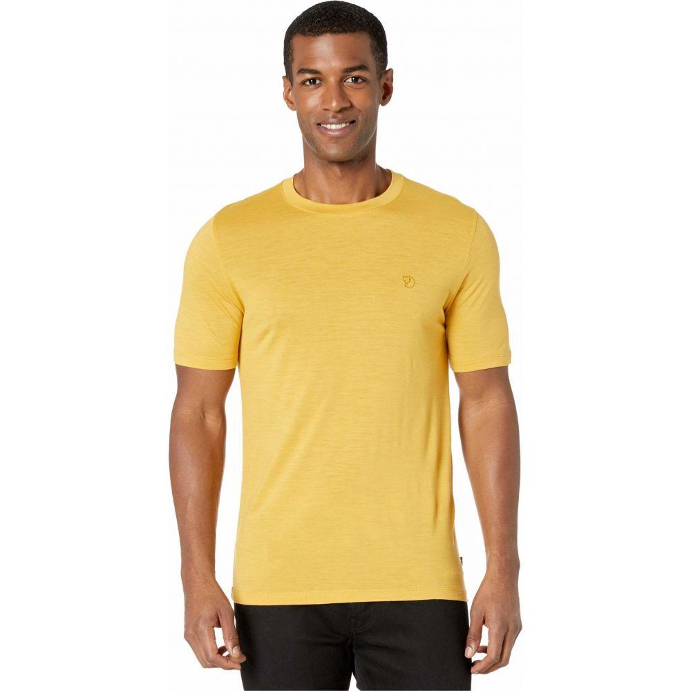 フェールラーベン Fjallraven メンズ Tシャツ トップス【Abisko Wool Short Sleeve】Ochre