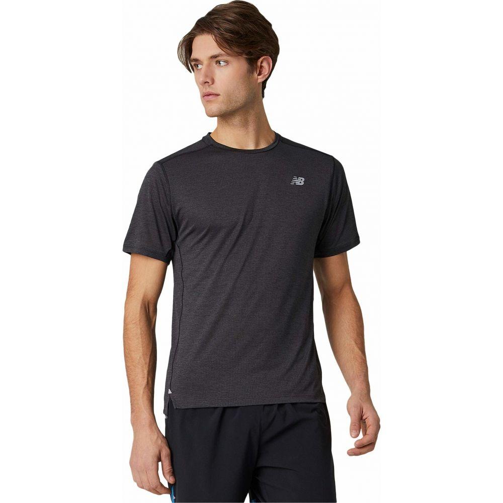 ニューバランス New Balance メンズ Tシャツ トップス【Impact Run Short Sleeve Tee】Black Heather