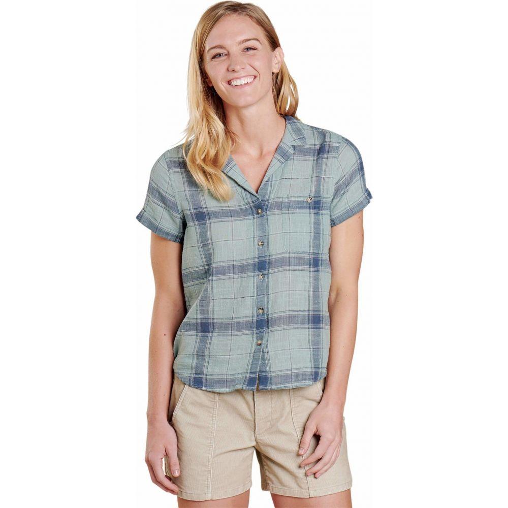 トードアンドコー Toad&Co レディース ブラウス・シャツ トップス【Camp Cove Short Sleeve Shirt】Blue Surf