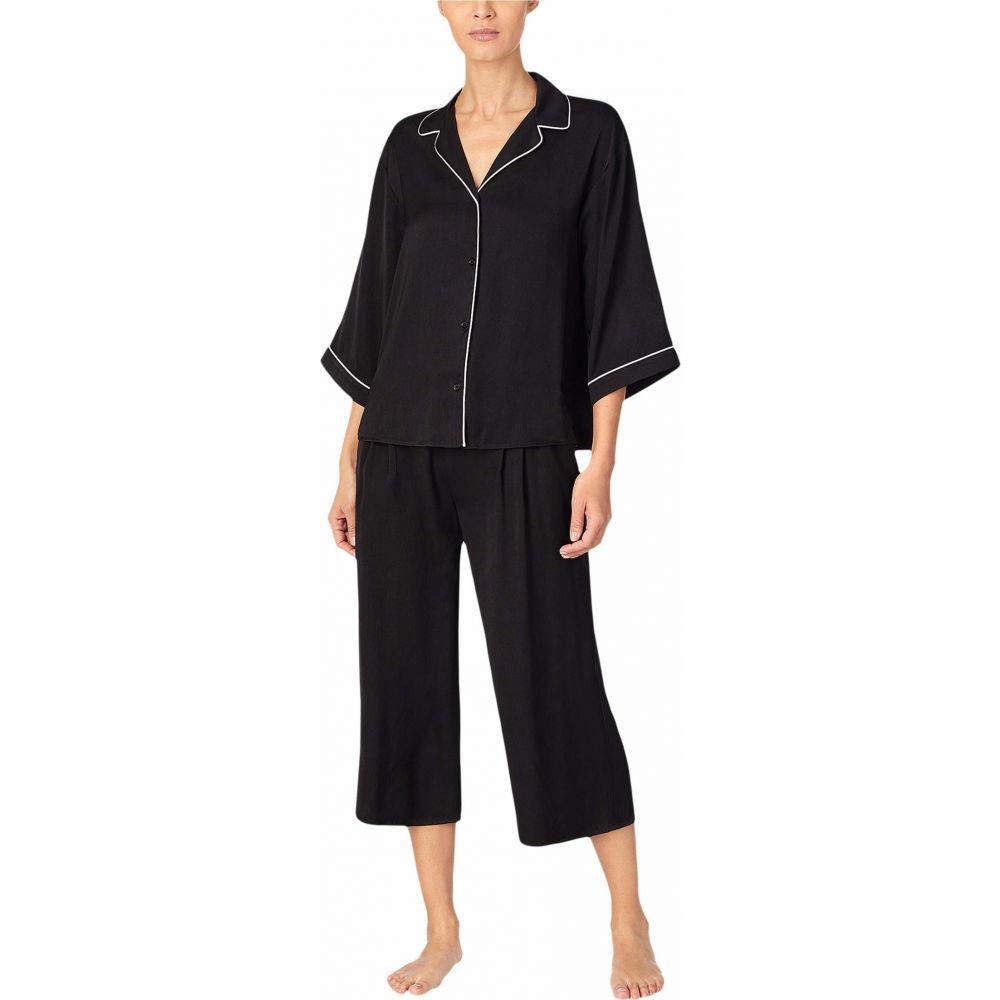 ダナ キャラン ニューヨーク Donna Karan レディース パジャマ・上下セット インナー・下着【Charmeuse Capris Pajama Set】Black