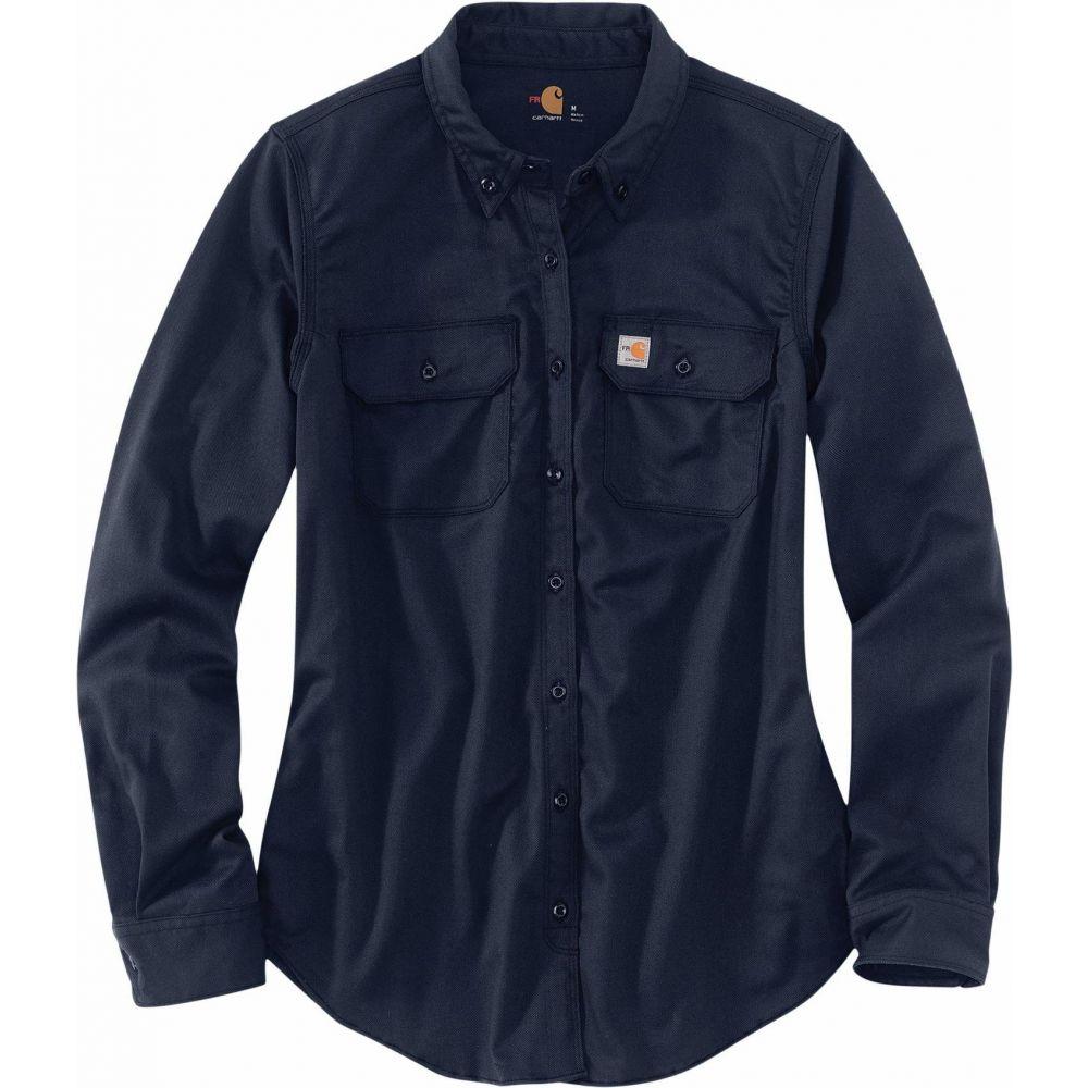 カーハート Carhartt レディース ブラウス・シャツ トップス【Flame-Resistant Rugged Flex Twill Shirt】Dark Navy