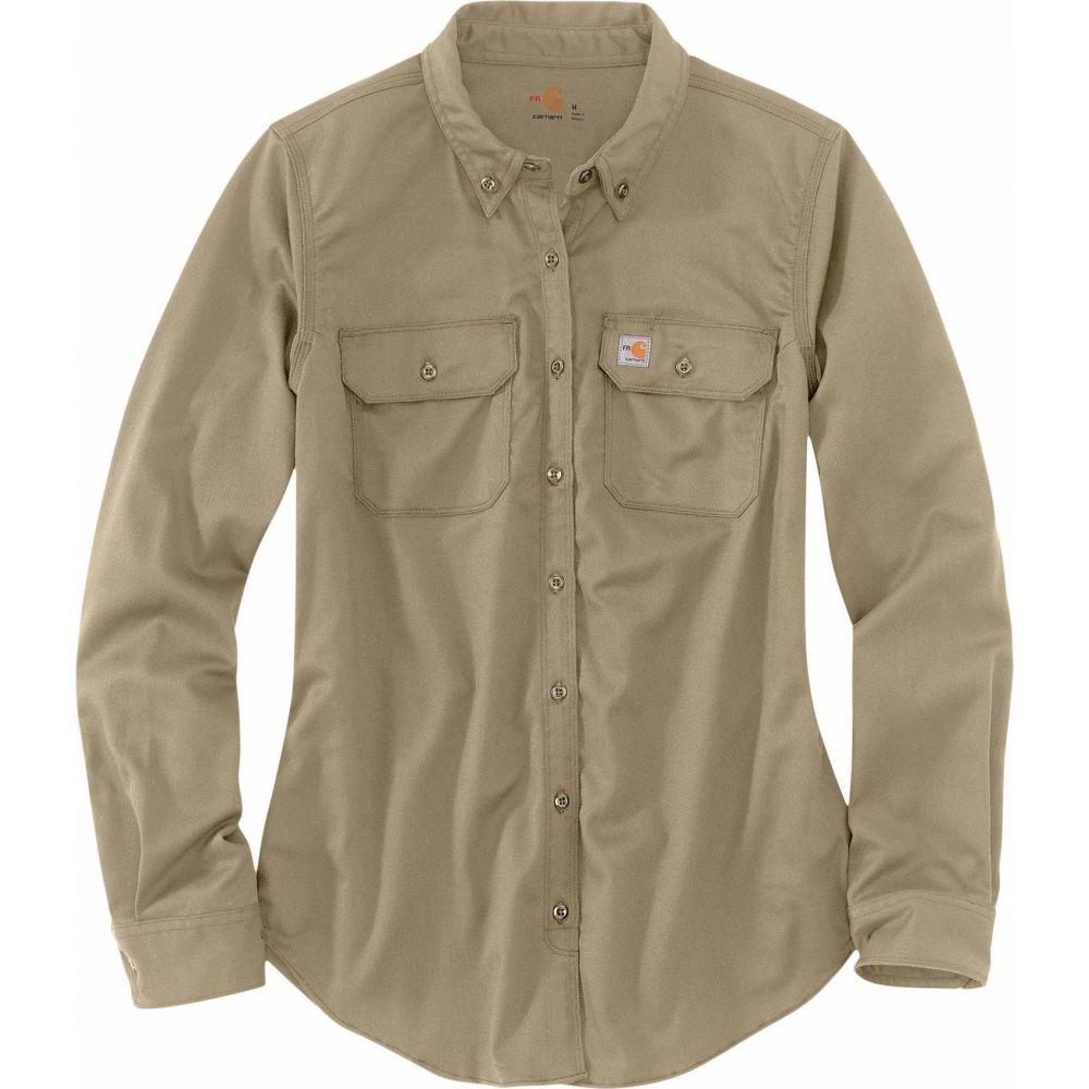 カーハート Carhartt レディース ブラウス・シャツ トップス【Flame-Resistant Rugged Flex Twill Shirt】Khaki
