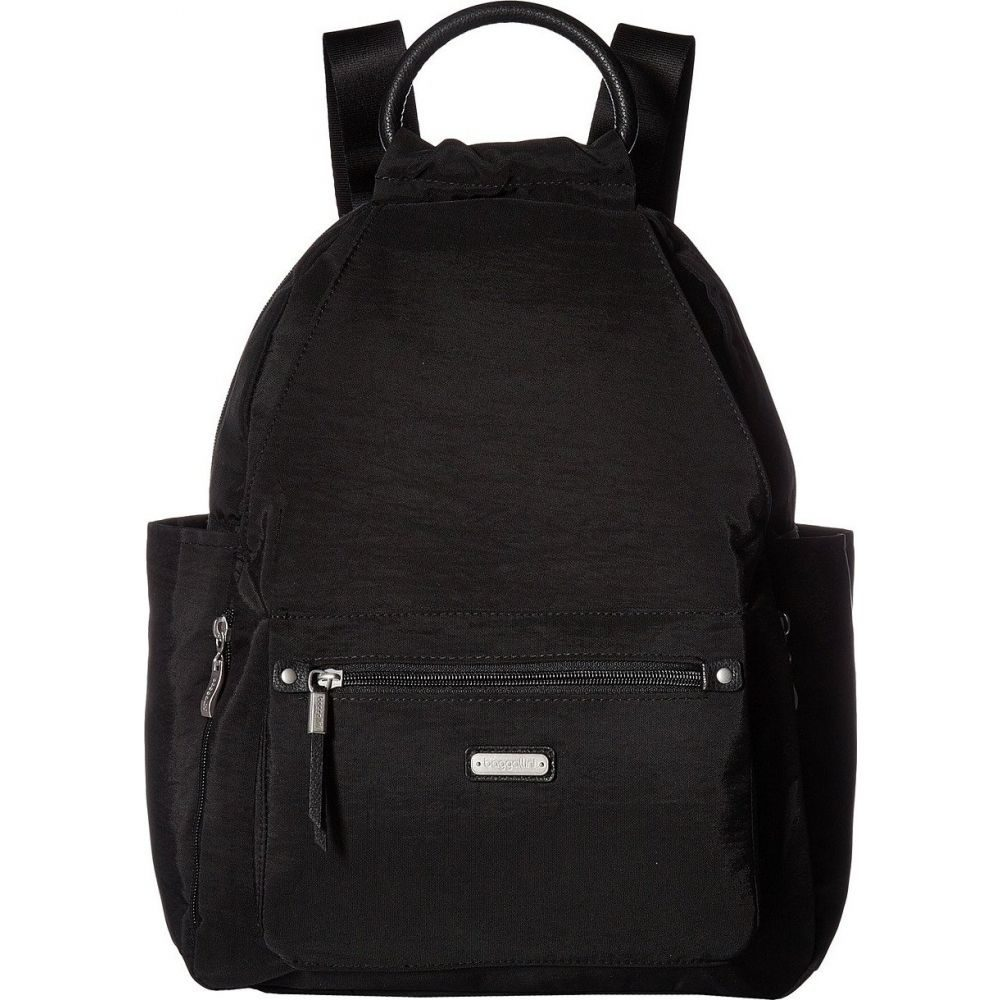 バッガリーニ Baggallini レディース バックパック・リュック リストレット バッグ【New Classic 'Heritage' All Day Backpack with RFID Phone Wristlet】Black