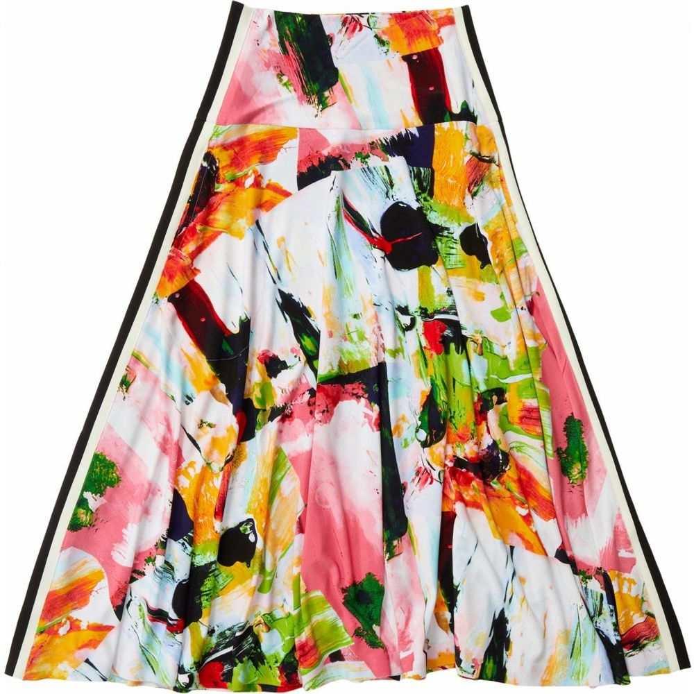 ノーマ カマリ KAMALIKULTURE by Norma Kamali レディース スカート 【Side Stripe Flared Skirt】Watermelon Splash/Off Stripe