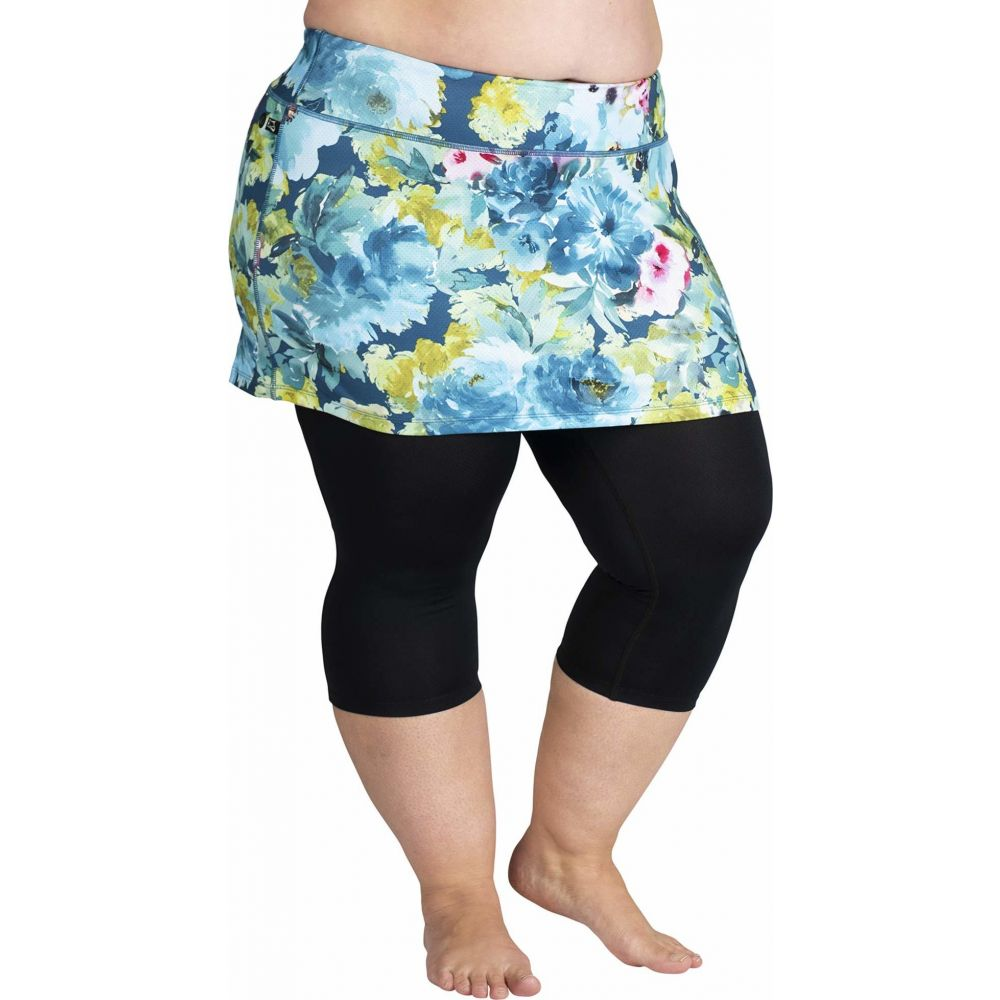 スカートスポーツ Skirt Sports レディース スカート 大きいサイズ【Plus Size Lotta Breeze Capris Skirt】Vacay Print/Black