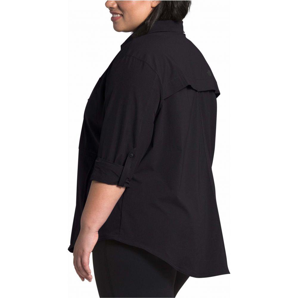ザ ノースフェイス The North Face レディース ブラウス・シャツ 大きいサイズ トップス【Plus Size Outdoor Trail Long Sleeve Shirt】TNF Black
