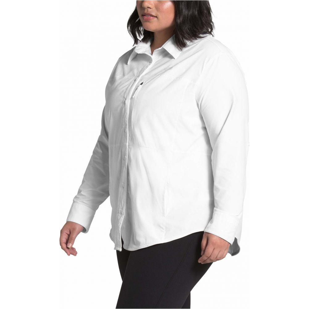 ザ ノースフェイス The North Face レディース ブラウス・シャツ 大きいサイズ トップス【Plus Size Outdoor Trail Long Sleeve Shirt】TNF White
