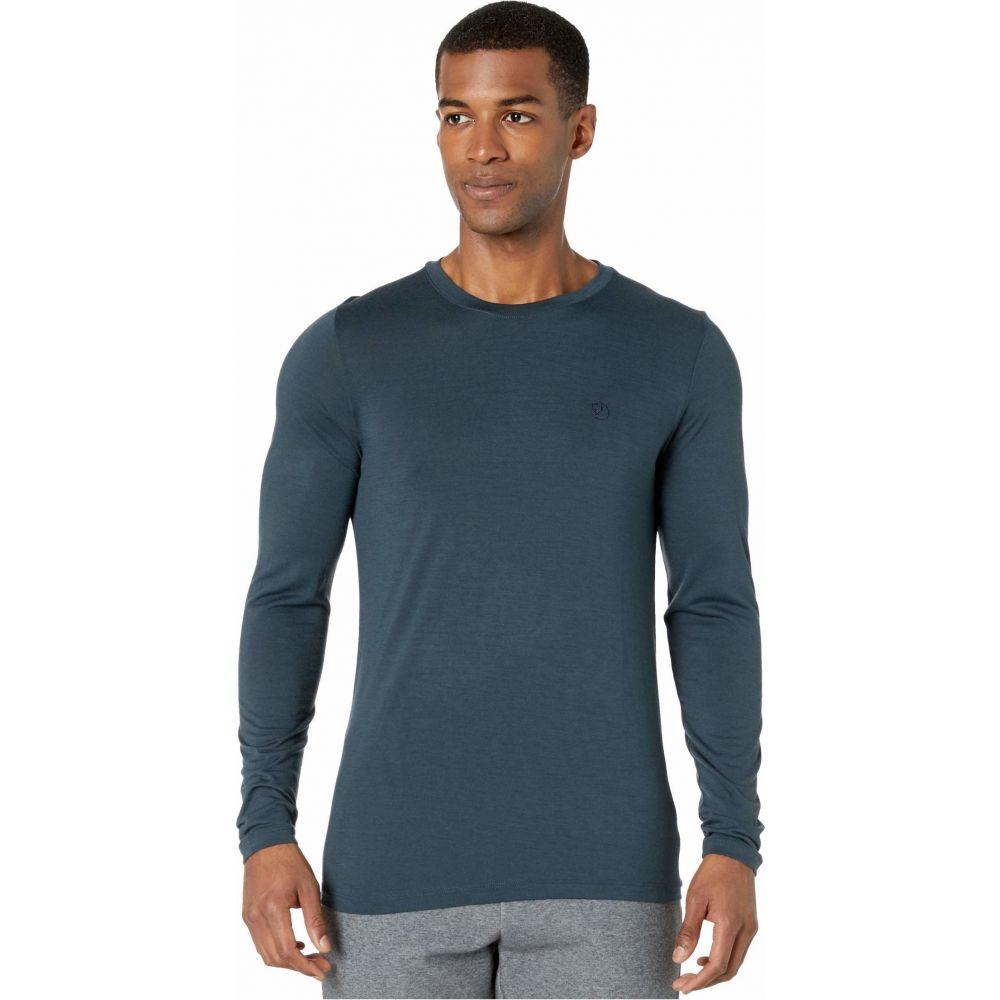 フェールラーベン Fjallraven メンズ 長袖Tシャツ トップス【Abisko Wool Long Sleeve】Dark Navy