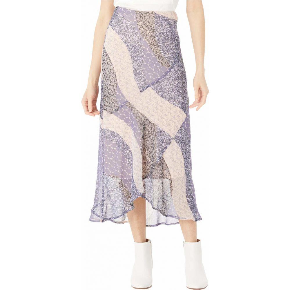 スカート【Patch 'Patchwork ひざ丈スカート Lavender レディース Printed ビービーダコタ Me Midi Skirt】Steel Chiffon In Dakota Floral' BB