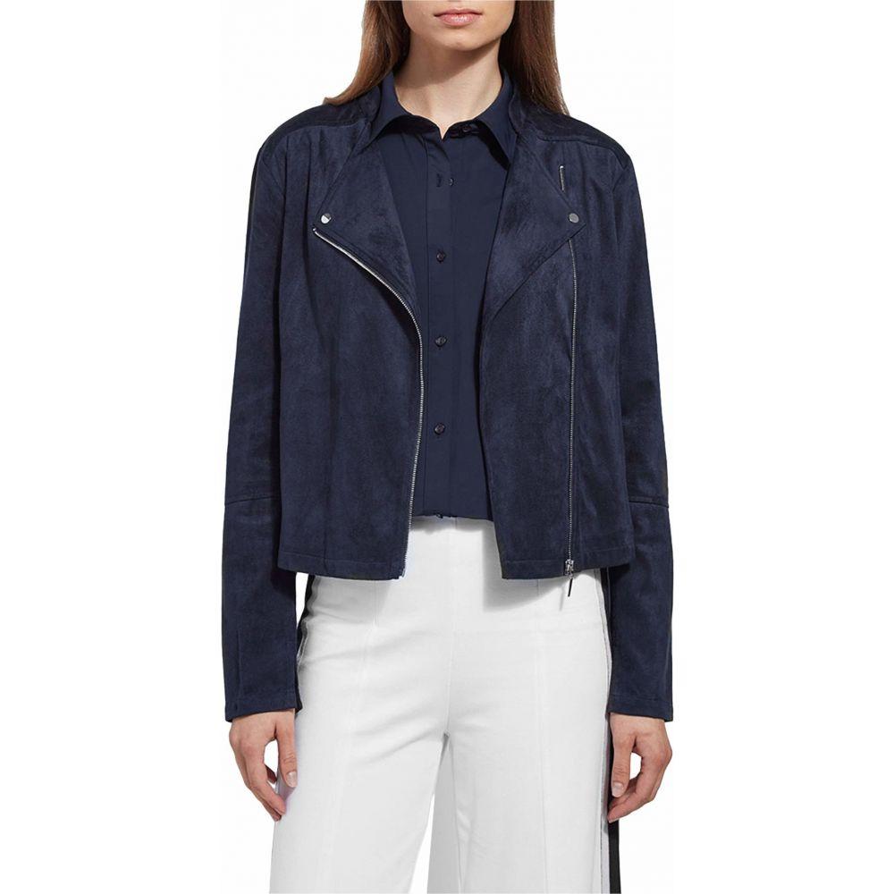 リセ Lysse レディース レザージャケット アウター【Essential Summer Suede Jacket】True Navy