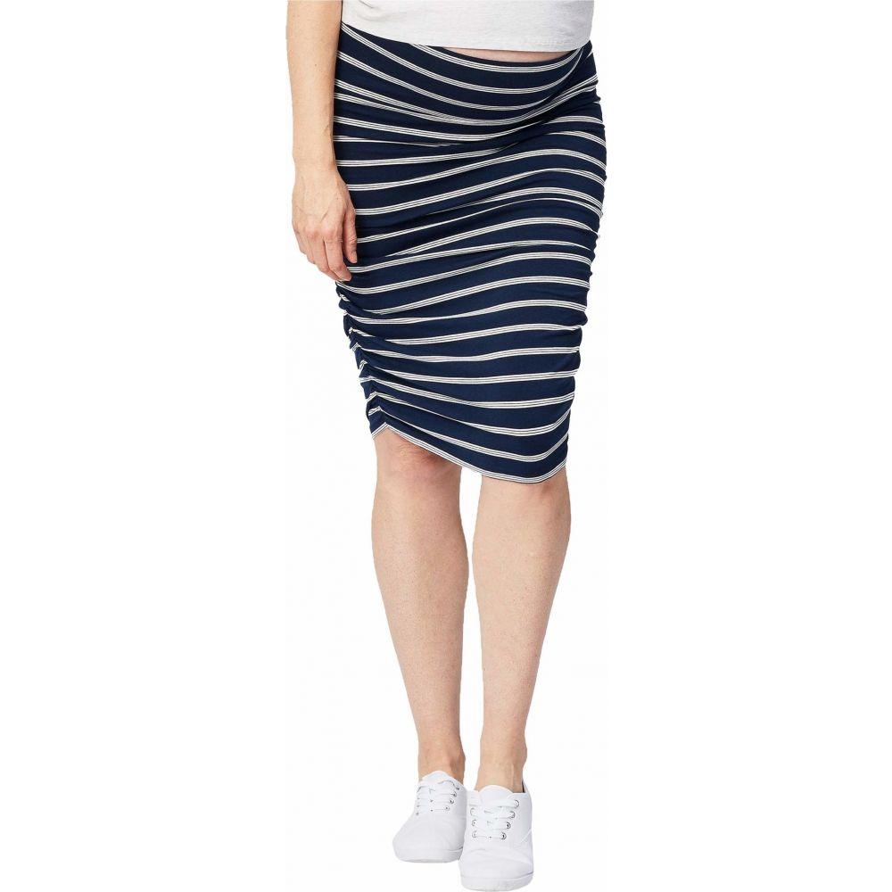 ケーキ マタニティー Cake Maternity レディース スカート マタニティウェア【Maternity Ruched Fitted Skirt】Stripe