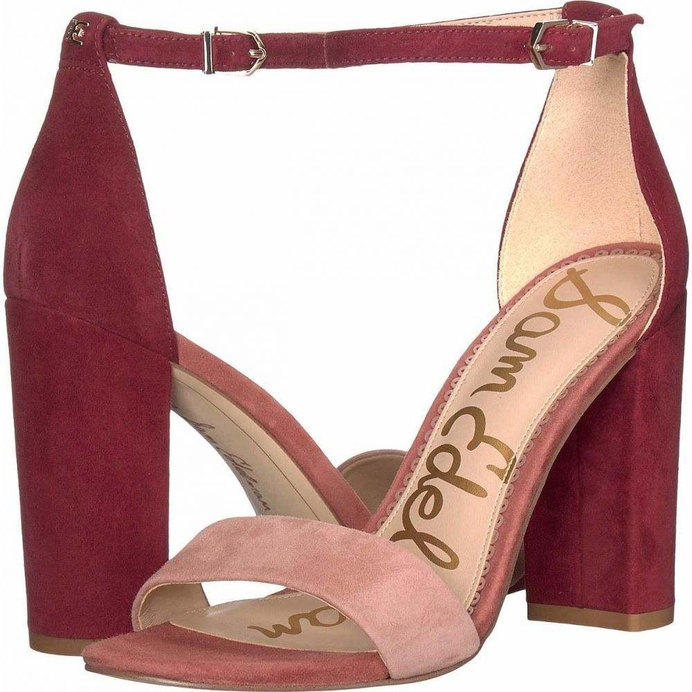 サム エデルマン Sam Edelman レディース サンダル・ミュール アンクルストラップ シューズ・靴【Yaro Ankle Strap Sandal Heel】Cameo Pink/Cabernet Suede Leather